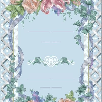Dimensions 35067 Floral Trellis Wedding Record